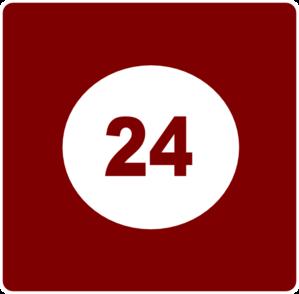 24 Hour Service Clipart.