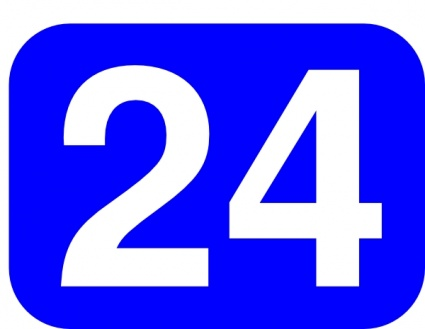 Number 24 White Clipart.