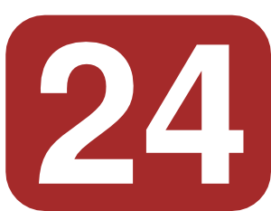 Brown Rounded Rectangle With Number 24 Clip Art at Clker.com.