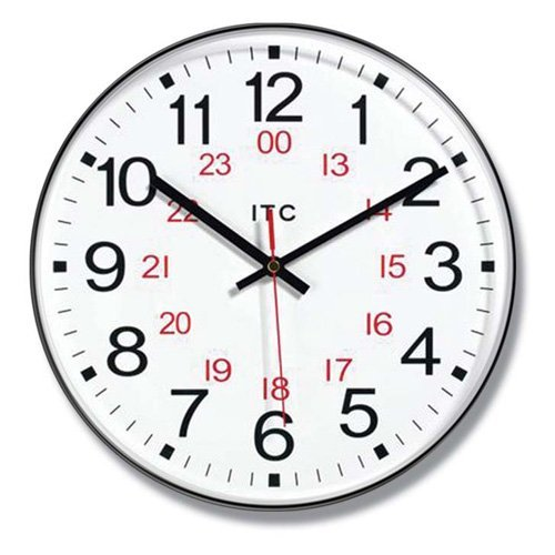 24 Hour Clock Clipart.