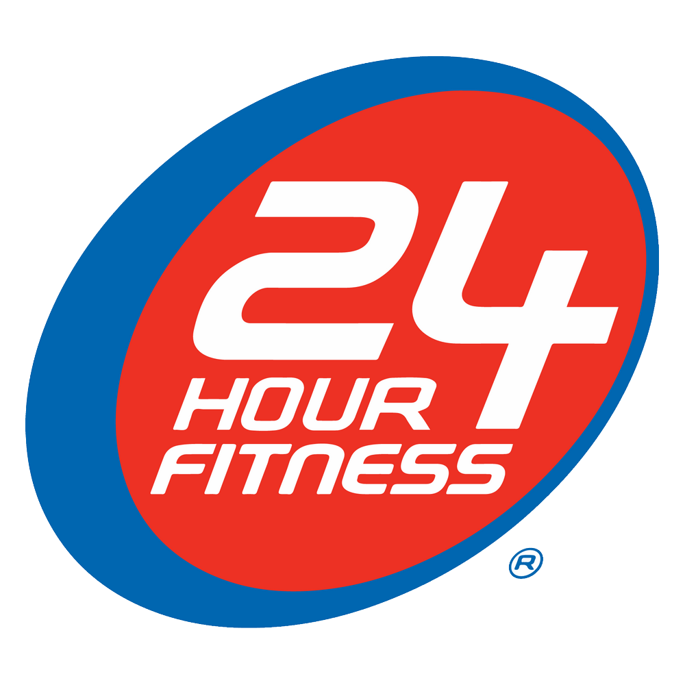 24 Hour Fitness Logo Download Vector.