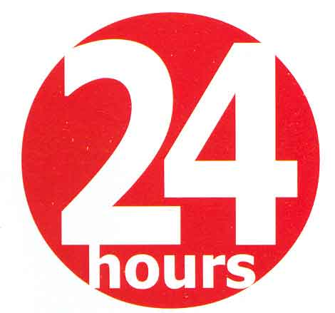 24 hours Logos.