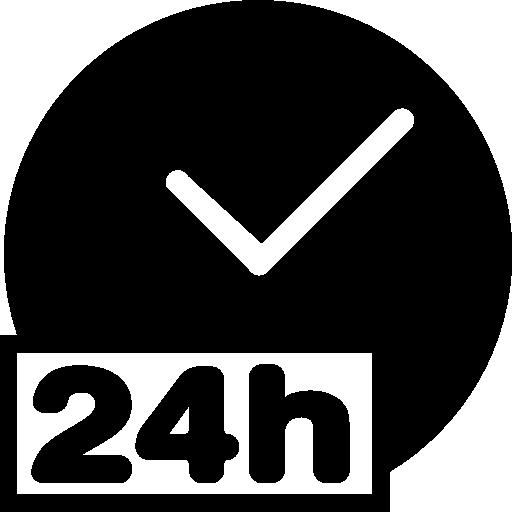 24 hour clock Icons.