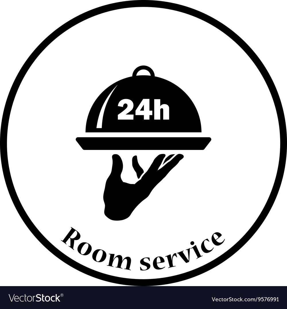24 hour room service icon.