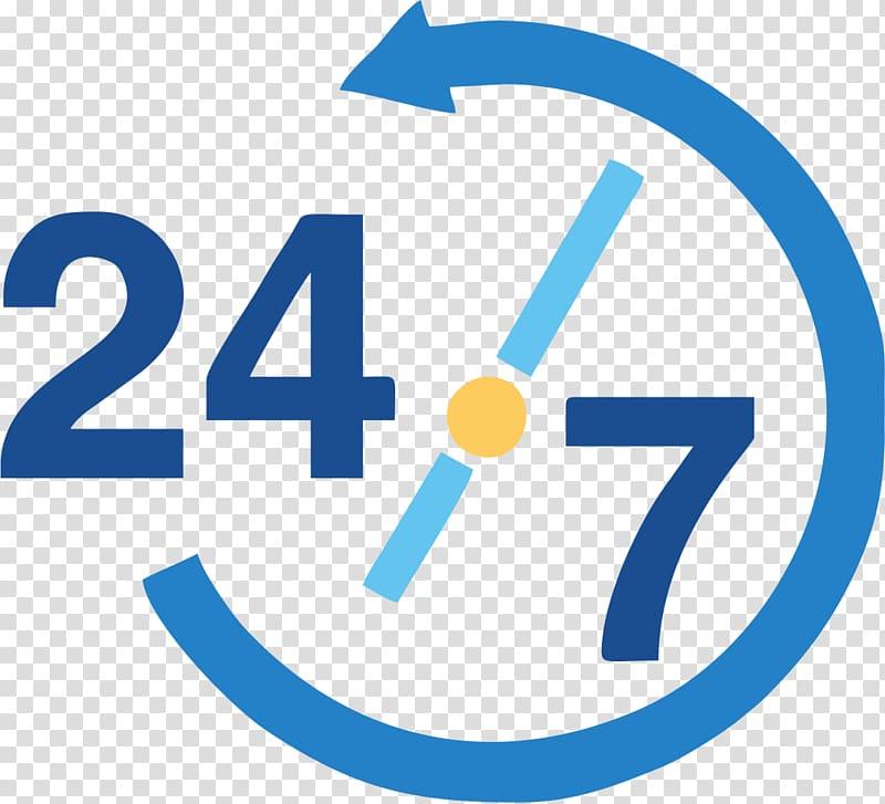 7 logo, 24/7 service Customer Service Management, email.