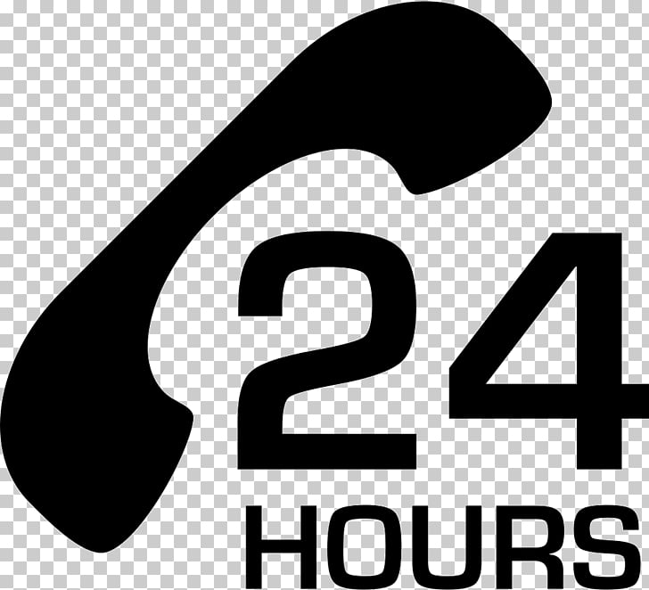Logo 24/7 service Customer Service, 24 HOURS PNG clipart.