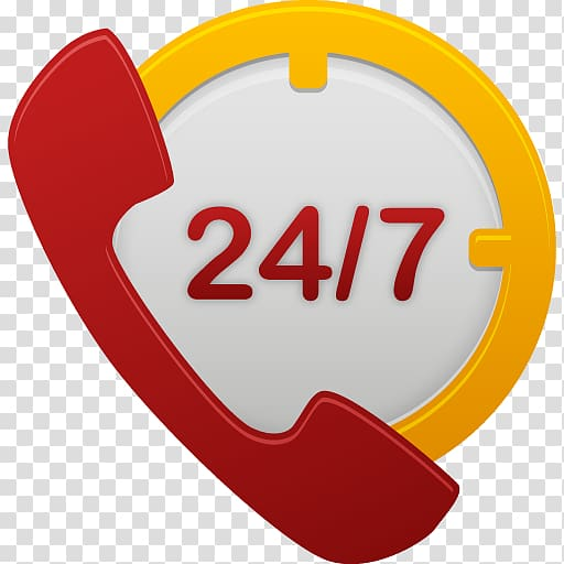 Yellow and red 24/7 phone logo, heart love area logo, 247.