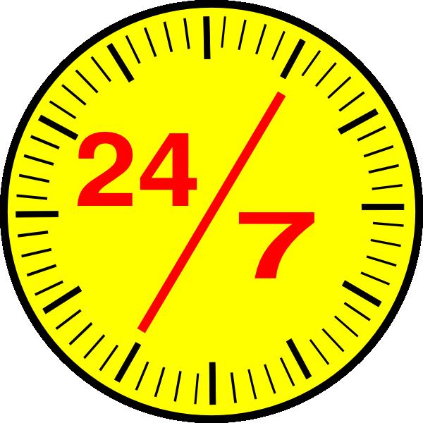 24 7 Clock Clip Art at Clker.com.
