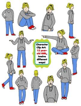 Character Clip Art: Twelve Year.