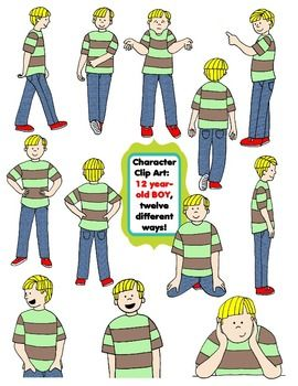 Character Clip Art: Twelve Year.