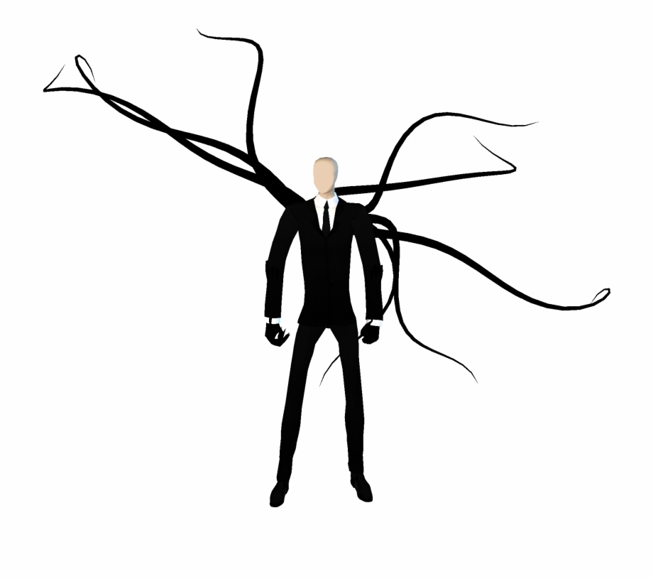 Clipart Info Slender Man Transparent Background.