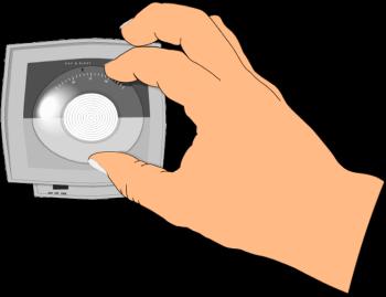 Thermostat clip art.