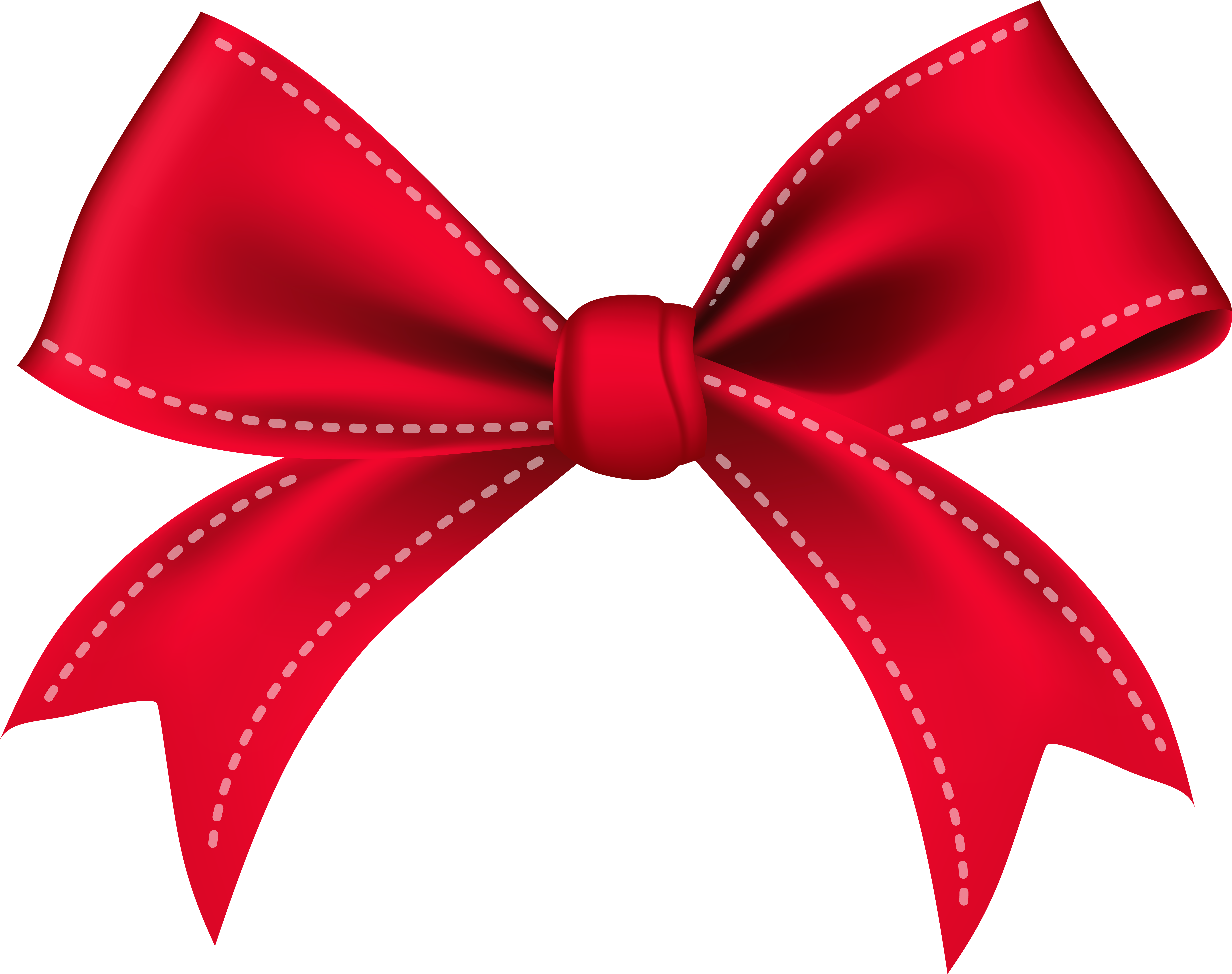 Bow Red Png Clip Art Image.