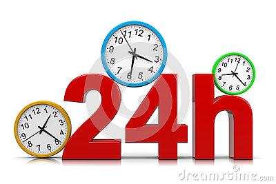 24h Service Stock Vector.