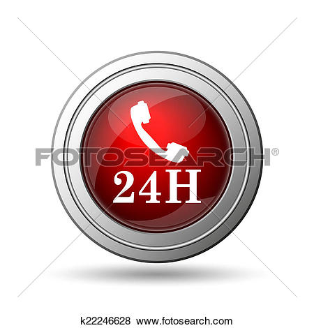 Stock Illustration of 24H phone icon k22246628.