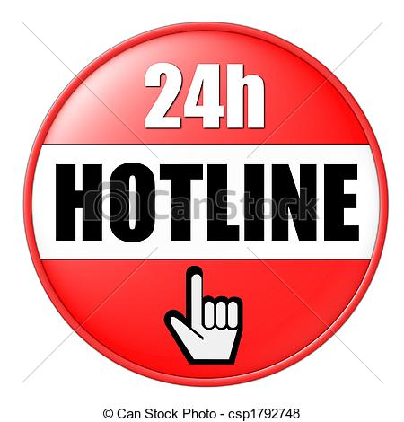 Drawing of 24h hotline button yellow csp1792744.
