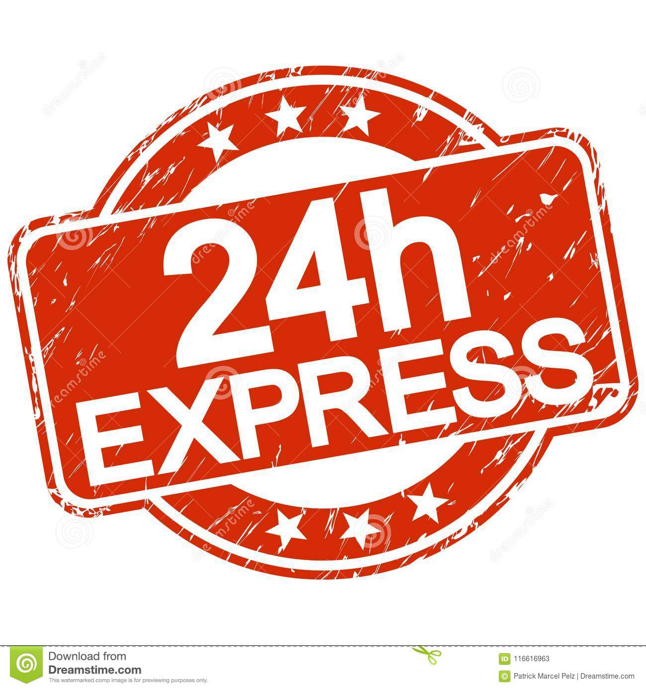 24h Express Stock Illustrations.