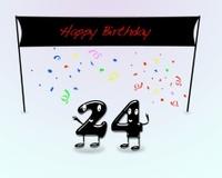 24th Birthday Stock Photos.