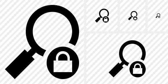 Search Lock Icon.