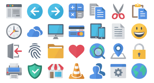 Axialis Flat Design Complete Set (2540 Icons).