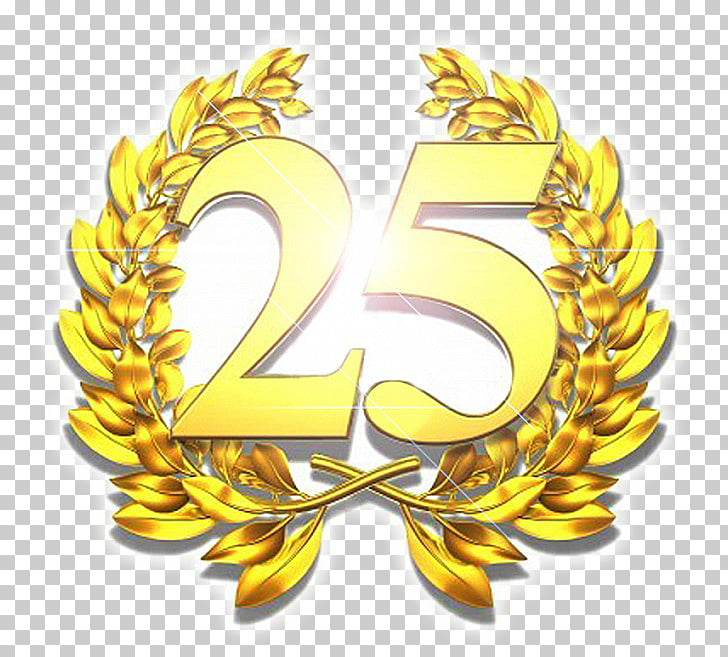 Stock photography corona de laurel, 25 aniversario PNG.