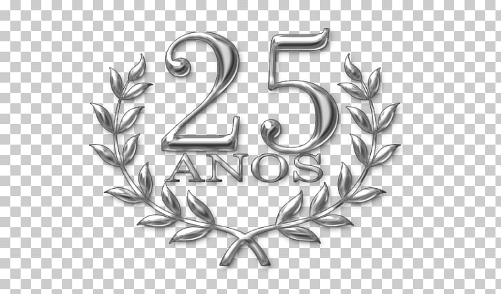 Paper Convite Silver Wedding Industry, 25 anniversary, 25.