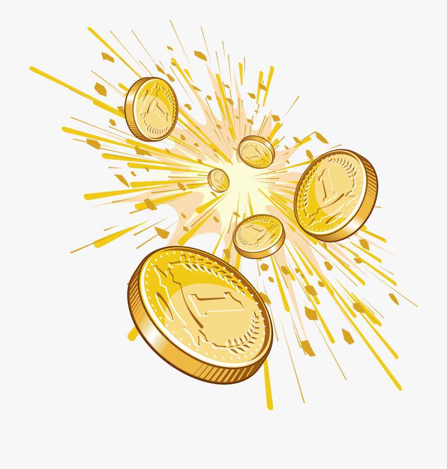 Shining Cents Png Clipart.