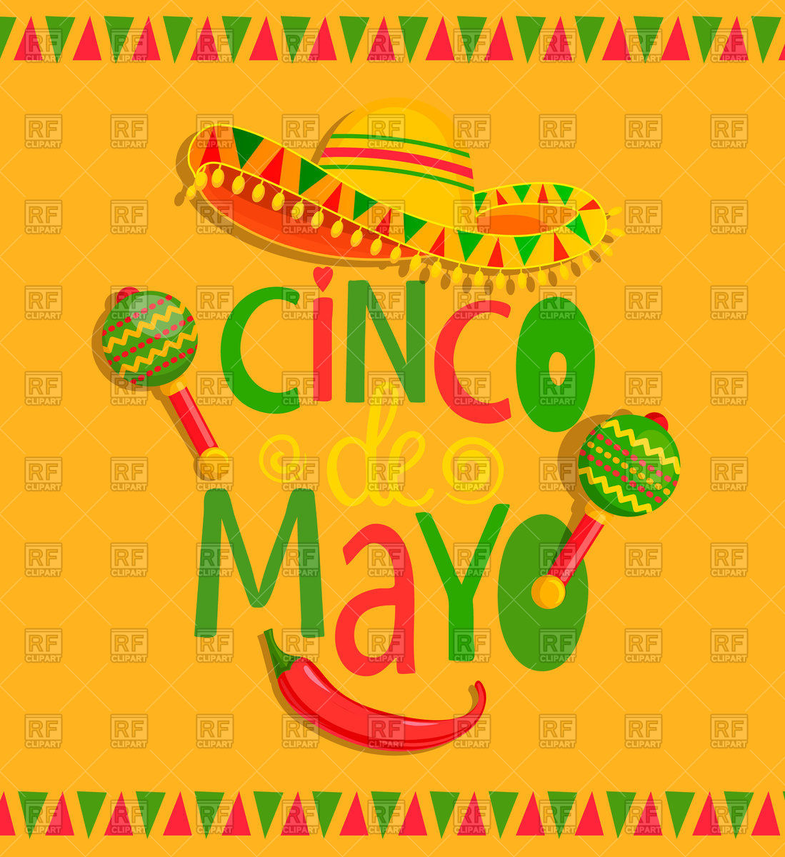 Lettering Cinco De Mayo.
