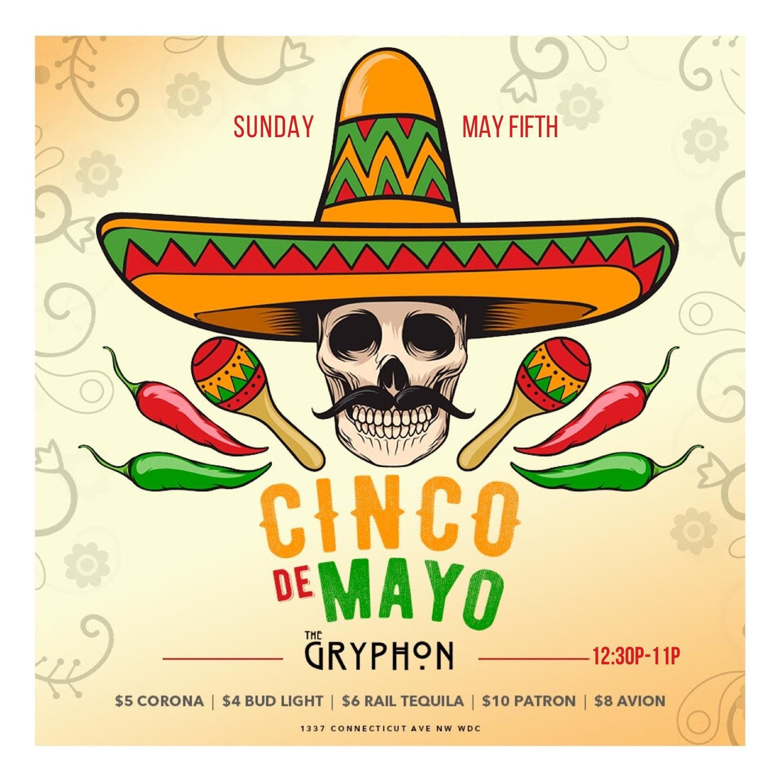 The Annual Cinco De Mayo Party at The Gryphon on 2019.