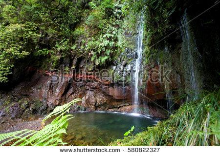 """blue Lagoon Waterfall"" Stock Photos, Royalty."