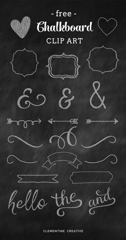 Free Chalkboard Clip Art Graphics.