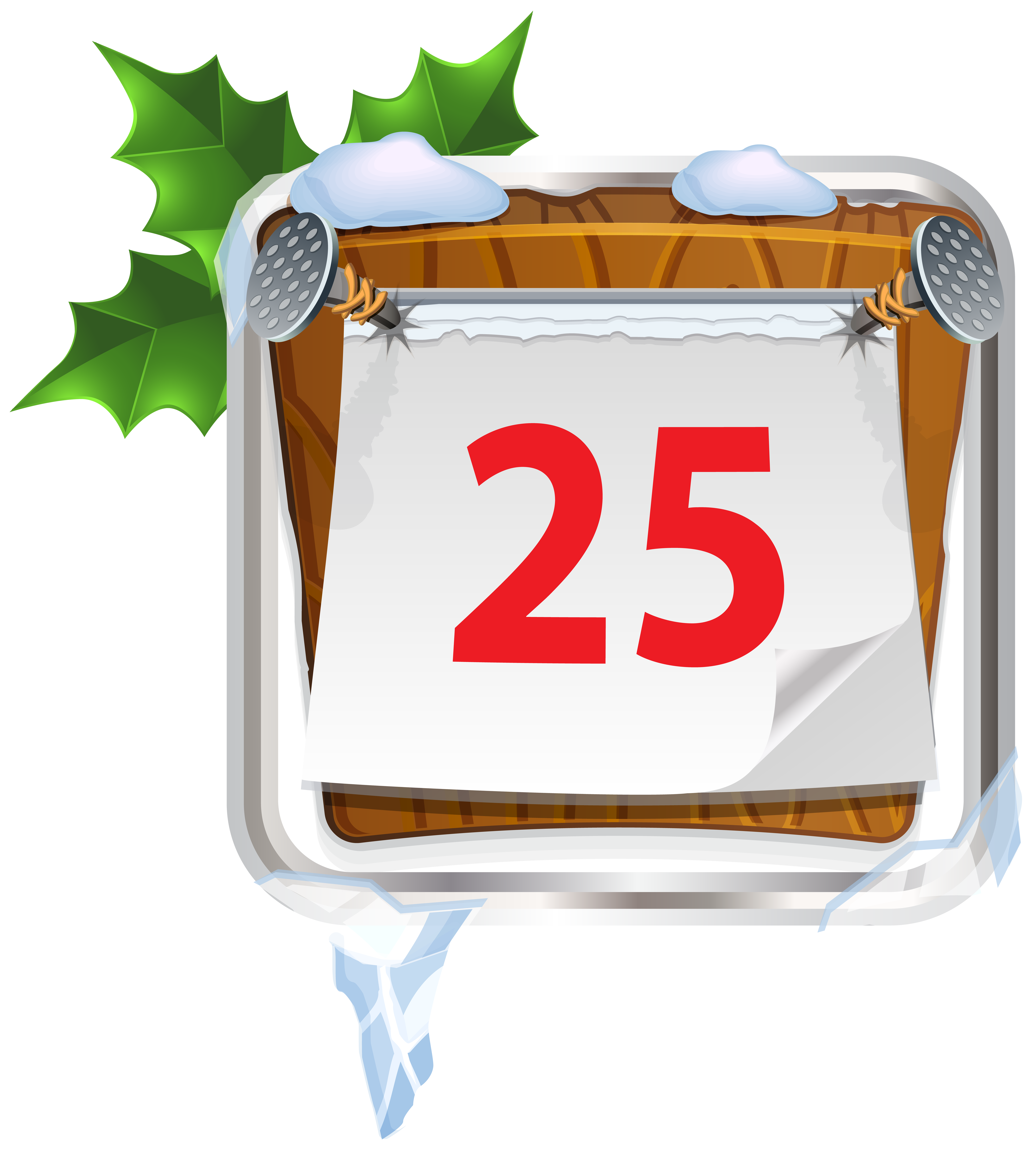 December 25 Christmas Sign PNG Clip Art Image.
