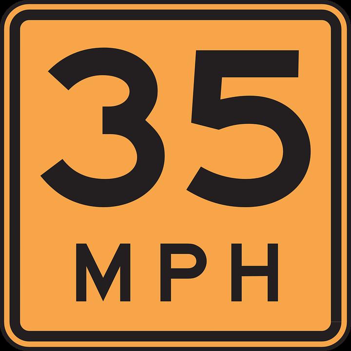 5 mph clipart.
