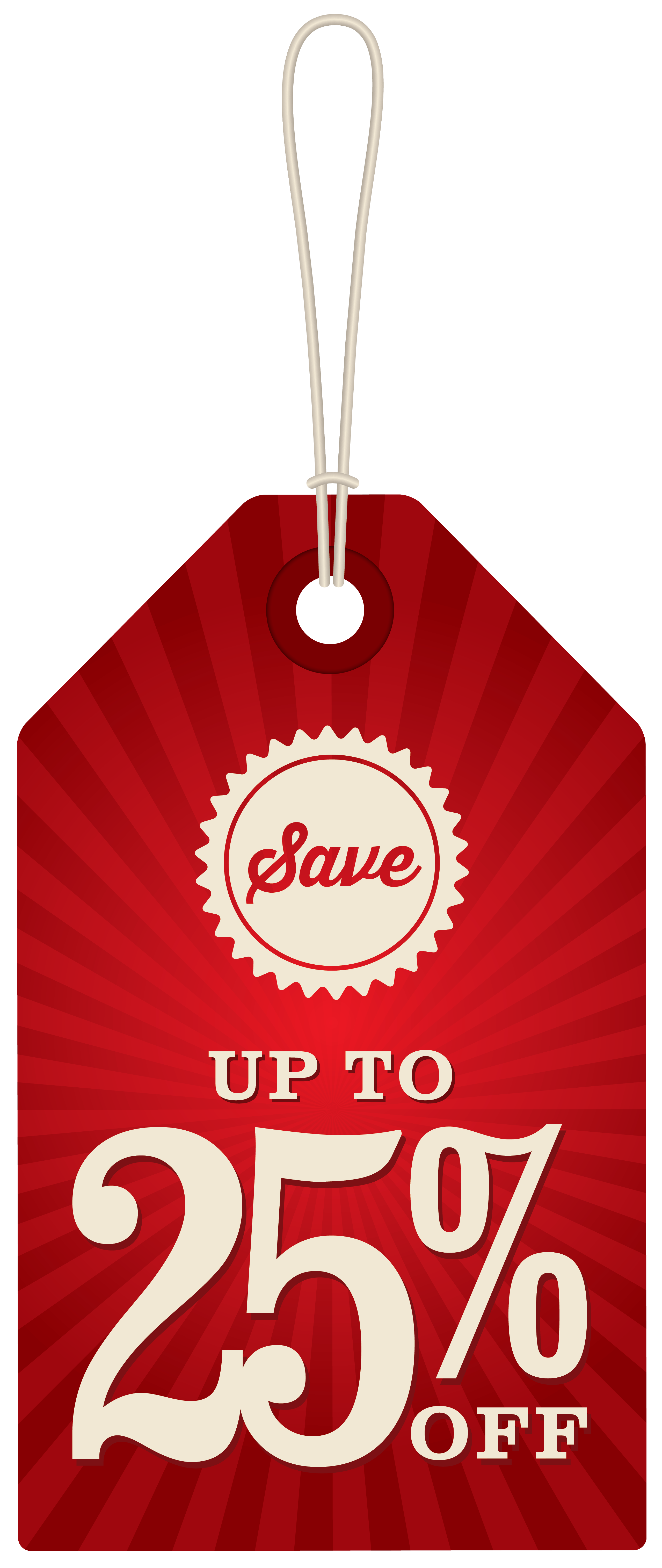 Save Up To 25% Off Label PNG Clipart Image.