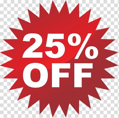 25% Off illustration, 25% Discount transparent background PNG.