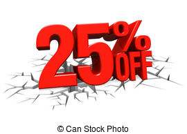 25 percent discount 3d concept Clip Art and Stock Illustrations. 156.