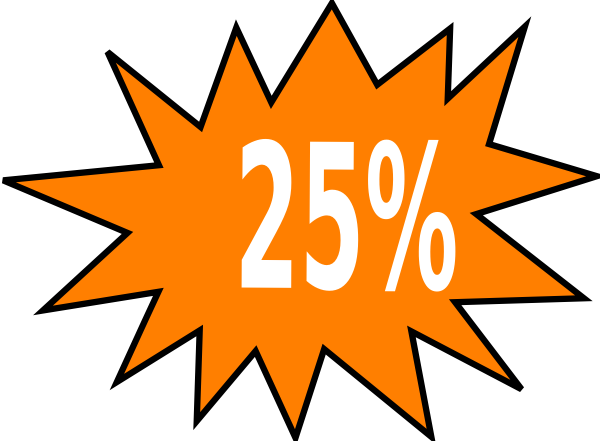 25% Off Clip Art at Clker.com.