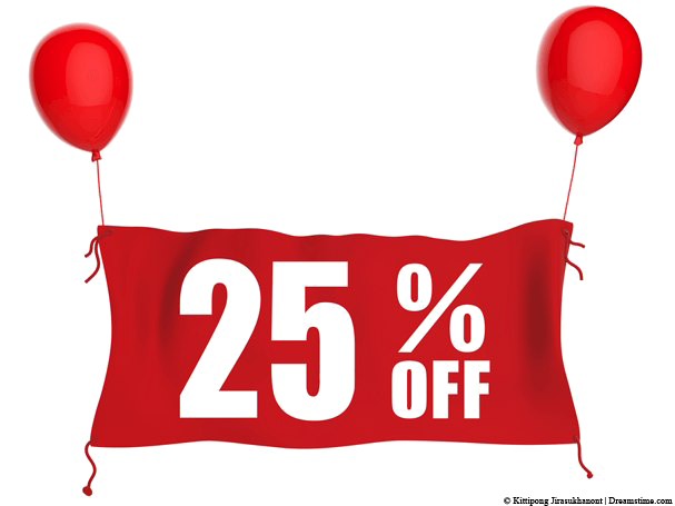 25 Percent Off PNG Transparent Image.