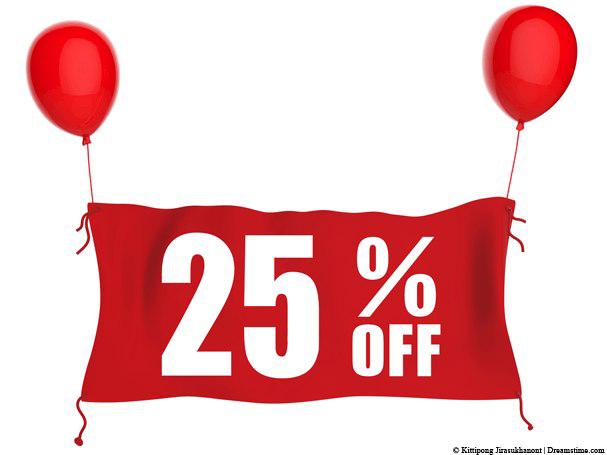 25 Percent Off PNG Transparent Image.