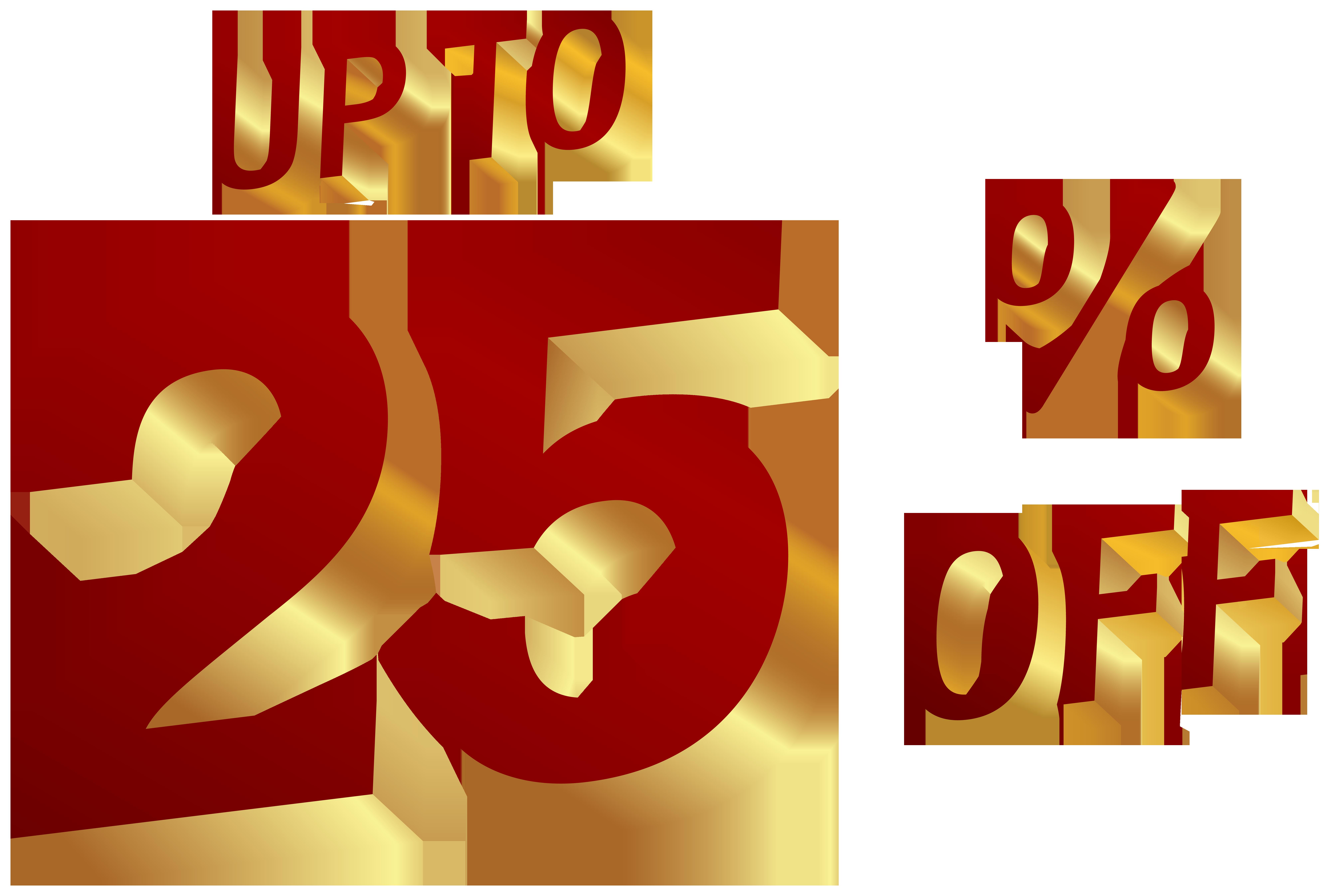 25 Percent Discount Clip Art Image.
