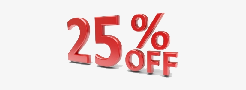25% Off Png Image.
