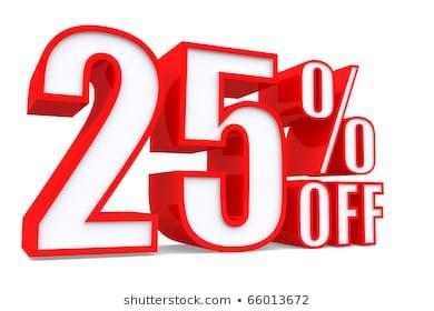25 Percent Off Images, Stock Photos & Vectors.