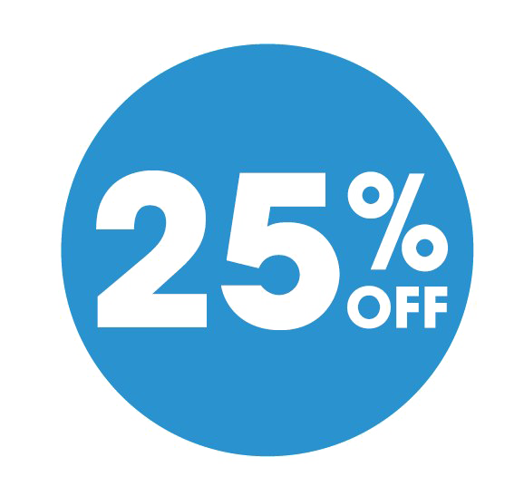 25 Percent Off PNG Image Background.