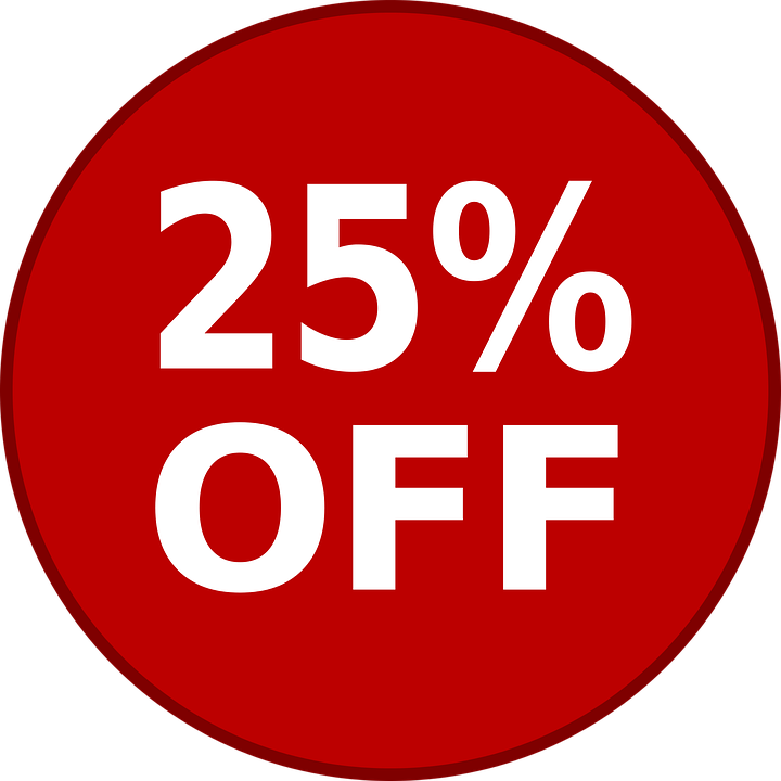 25 Percent off PNG Picture.