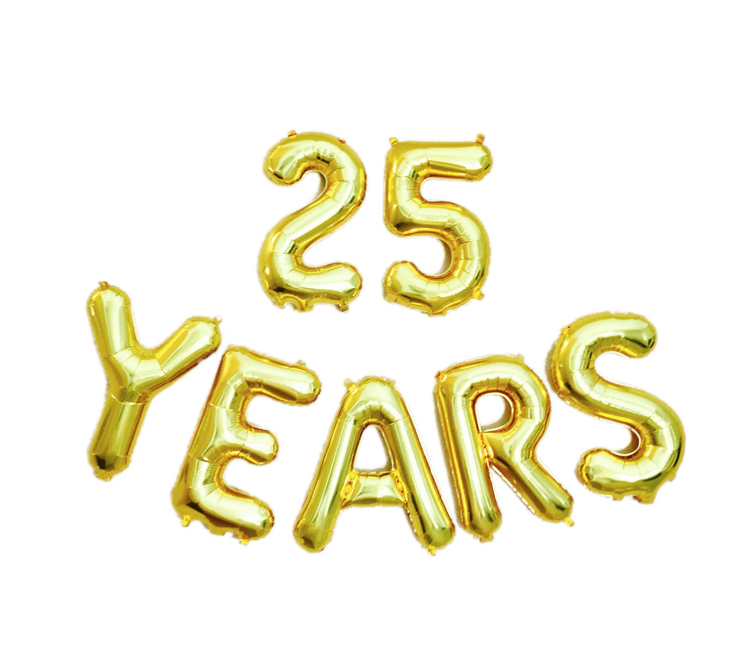 25 Years Letter Balloons transparent PNG.