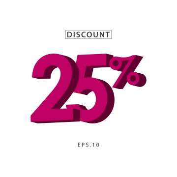 Discount 25 PNG Images.