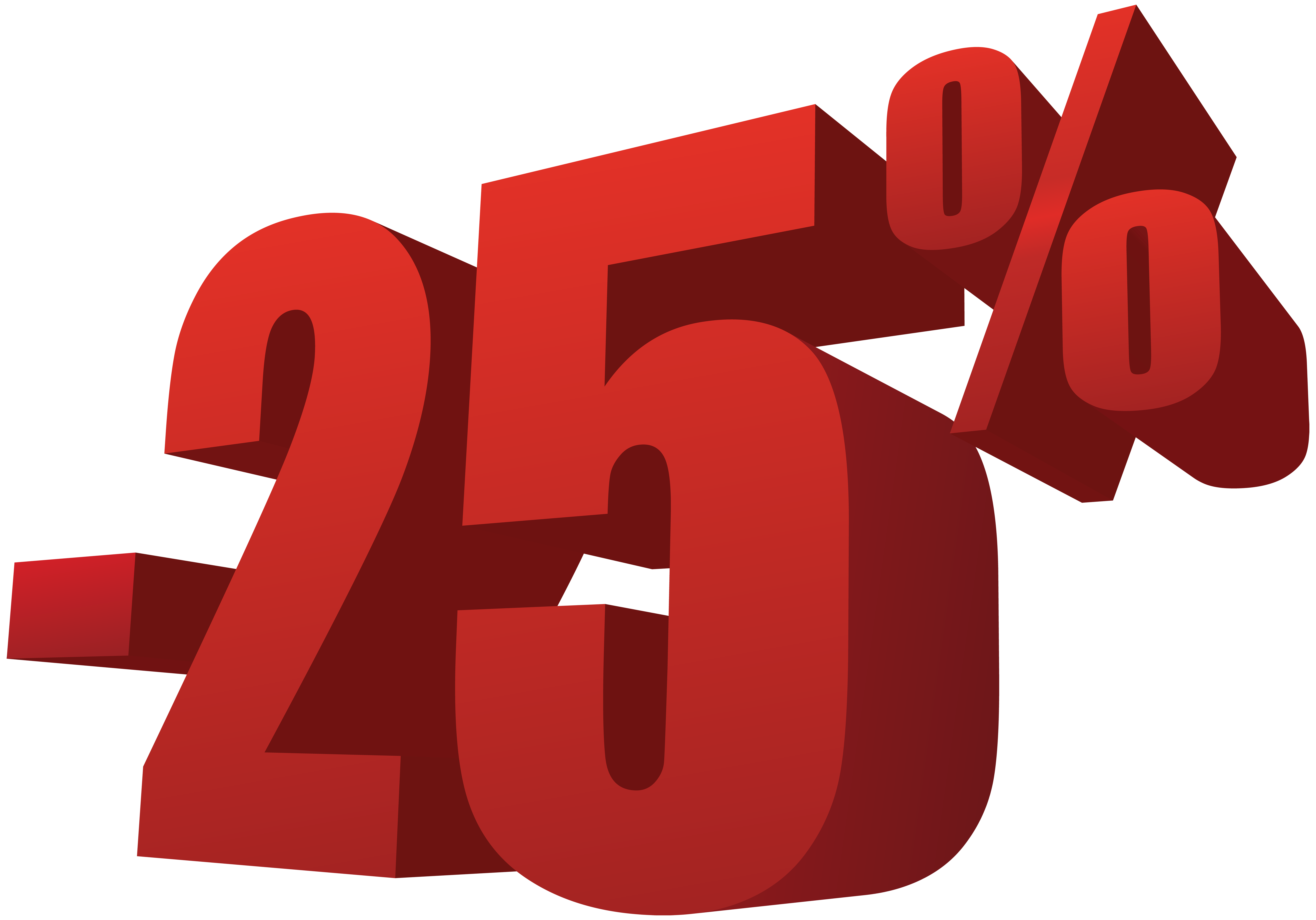 25% Off Sale PNG Transparent Image.