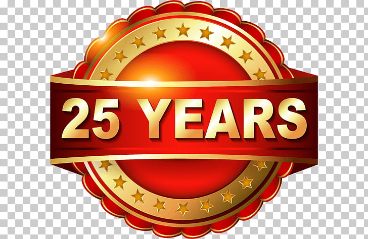 Anniversary Stock photography , 25 years PNG clipart.