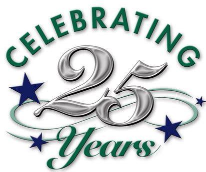 Celebrating 25 years Logos.