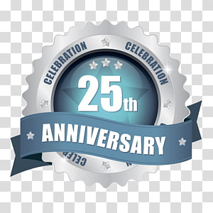 Anniversary Badge transparent background PNG cliparts free.